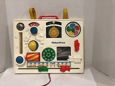 Vintage Fisher Price Activity Center Crib Toy #1134 Baby Toy 1973/1984