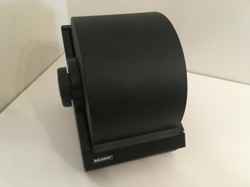 Vintage Rolodex Model 5350 With Cards No Key Black, (Multiple units available)
