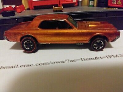 1968 Hot Wheels Redline Custom Cougar Orange Very Good Condition Original 16