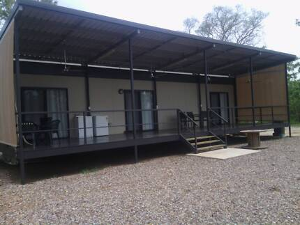 Large 2 B/R Demountable with balcony on private 10 acre property