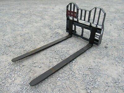 Pro Works 72 Long 6600 Pound Pallet Forks Skid Steer Loader Attachment