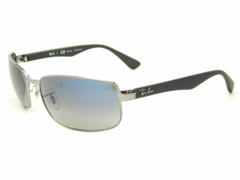 Ray Ban RB3478 004/78 Gunmetal / Blue Gradient Polarized 60mm Sunglasses