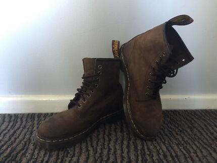 Brown doc martins