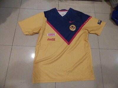 maillot de foot Club America 2008 dédicacé T M Nike signé Mexico