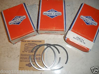 Vintage Nos Briggs Stratton Gas Engine Standard Ring Set 298174 Mower Tiller
