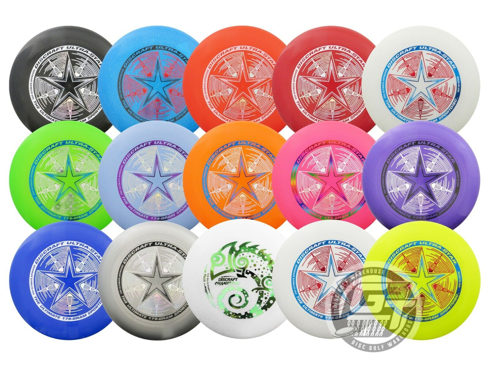Discraft ULTRA-STAR 175g Ultimate Frisbee Disc - PICK YOUR C