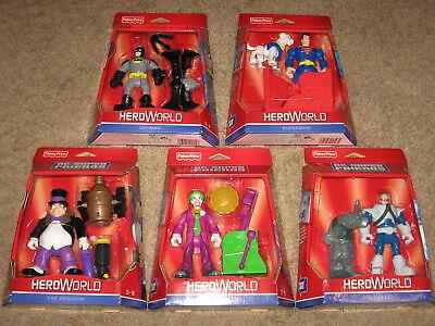 DC Super Friends Hero World LOT OF 5 Batman Superman Krypto Fisher-Price Sealed