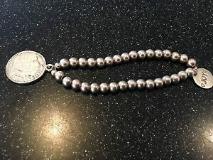 JOY Jewellery - Silver Bead Bracelet with Coin Charm Madeley Wanneroo Area Preview