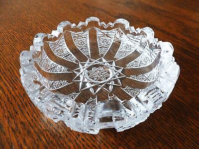 Beautiful Round Crystal Trinket Dish