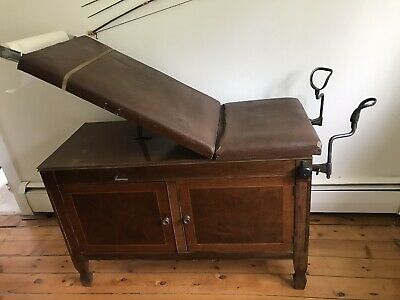 Vintage Gynecologist Medical Exam Table
