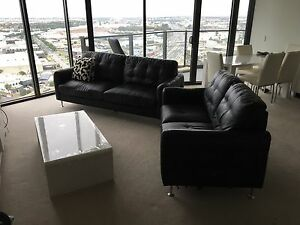 Leather couches Docklands Melbourne City Preview