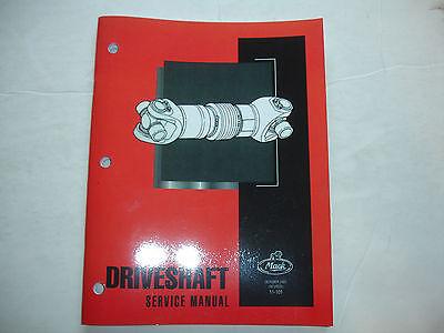 Mack Trucks Factory Shop Repair Service Master Manual - Driveshaft  Revised '01 ()