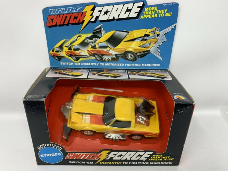 "1980s (LJN) ""ROUGH RIDERS"" (SWITCH FORCE) Motorized ""BLACK BIRD"" Vehicle, NEW!"