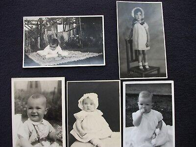 "PHOTOS OLD BLACK AND WHITE 5 ½"" x 3 ½"" x 5 ORIGINAL PHOTOS"