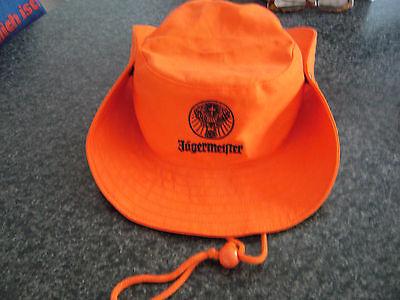 Jägermeister Cowboyhut mit Rudi Logo und Zugkordel Rot  Neu