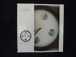 INHABIT CONTEMPORARY WOODS 2 LEVEL BROWN WALL CLOCK; RETAIL $39.99