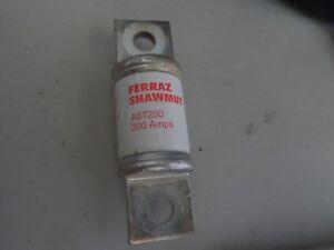 Used FERRAZ  SHAWMUT A6T200  CLASS T FUSE 200 amp 600 volt