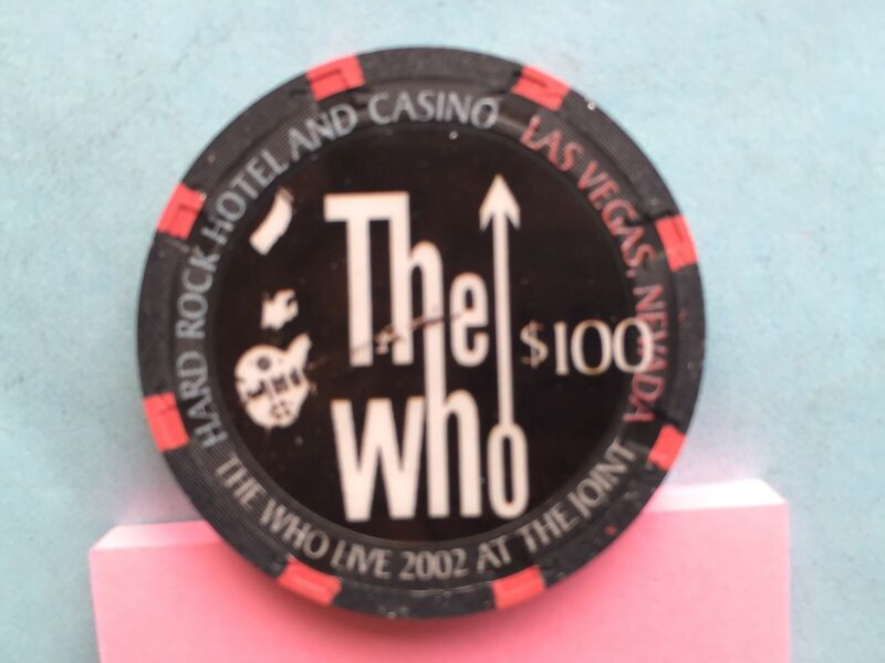 Hard Rock  The WHO  $100 chip - Mint/New