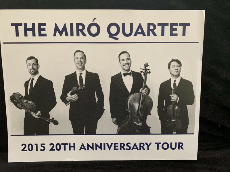 MIRO STRING QUARTET - 3 PUBLICITY PHOTOS - 2015 20th Anniversary Tour