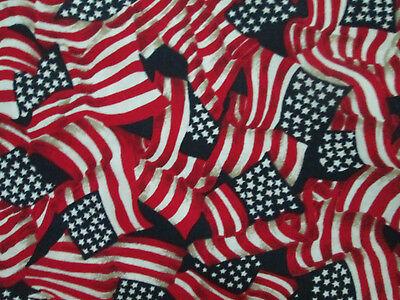 Cotton Wavy American Flag - USA Flag American Wavy Stars Stripes Patriotic Red Cotton Fabric BTHY