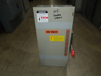 Siemens Nf352dtk 60a 3p 600v Ac Double Throw Non-fusible Manual Transfer Switch