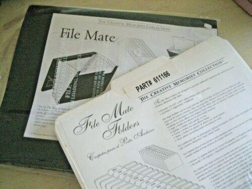 LOT 2  New OLD STOCK Creative Memories FILE MATE + 13 9X11 FOLDERS Organizer SET