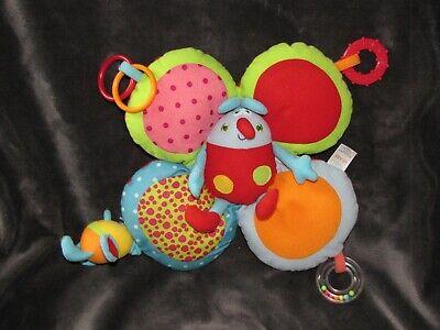 Flutter Activity Toy - Baby Gund Buggy Buddies Flutter Butterfly Activity Toy 59234 Crinkle Rattle