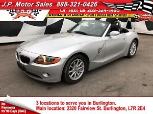 2003 BMW Z4 2.5i, Manual, Leather, Convertible