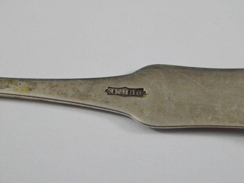 Antique American Coin Silver Spoon Duhme Cincinnati Ohio 1885 Tipped Pattern
