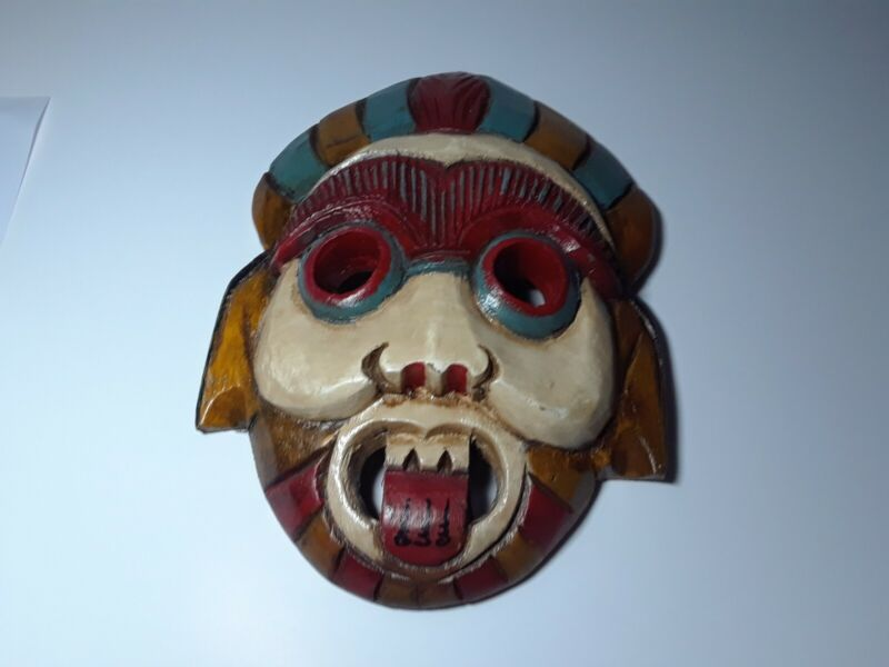 Vintage Hand Painted Wall Mask