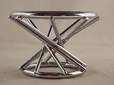 (1) SPHERE - GLOBE or EGG Swirl Chrome Display Stand