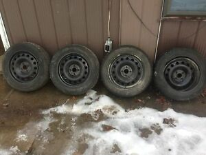 "4/16""4/100 winter rims off ion $225 Peterborough Peterborough Area image 1"