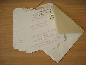 personalised wedding invitations day eve vintage card set rsvp
