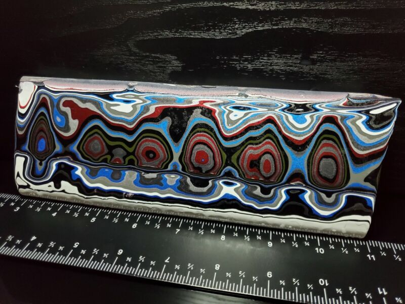 238g Genuine Fordite Jewelry Grade Rare Rough Motor City Agate Blanks & Cabbing