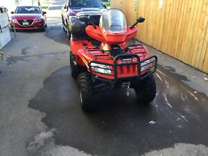 2013 articat trv 500 2-up with cargo box windshield and mirrors