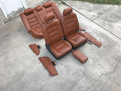 98 04 Lexus Gs300 Gs400 Gs430 Sport Design Saddle Orange Leather Seat Completed