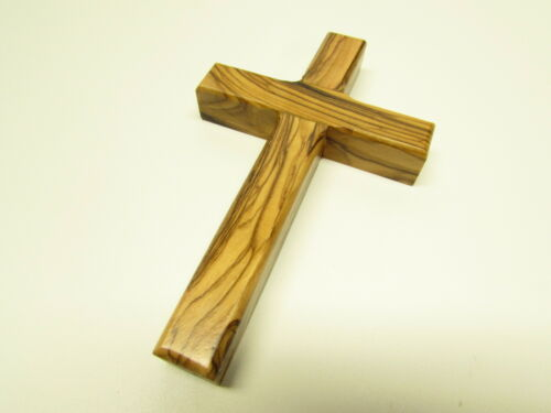 Olive Wood Christian Wall Cross - Hand Made in the Holy Land - Jerusalem