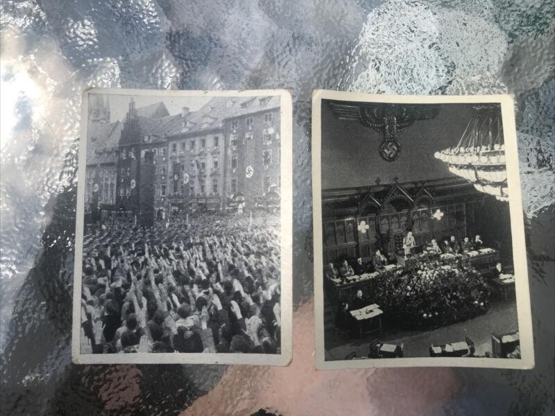 WWII Adolf Hitler Austria Tabakwerke Tobacco Cards - Lot of 2 Numbers 293 & 252