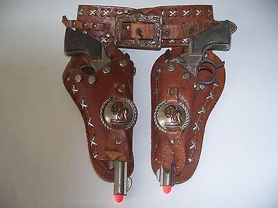 Vintage 1950s Roy Rogers Cap Pistols & Holster Set - George Schmidt -  Toy Guns