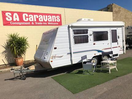 JAYCO HERITAGE 18' CARAVAN with AIR COND. and ISLAND BED Klemzig Port Adelaide Area Preview