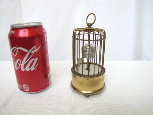 Rare Vintage Kaiser Bird in Birdcage Clock.