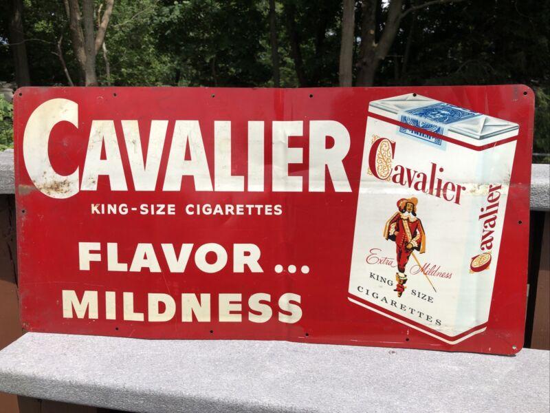 CAVALIER KING SIZE CIGARETTES FLAVOR MILDNESS No.112 SIGN NOT A REPRINT!!