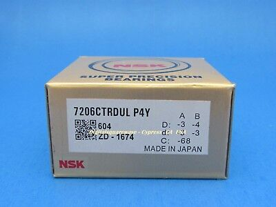 Nsk 7206ctrdulp4y Abec-7 Super Precision Spindle Bearings. Set Of Two