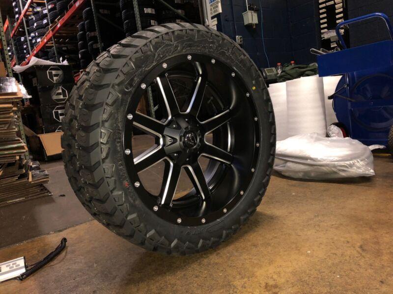 "22x10 Fuel Maverick D538 Wheel Tire Package Amp 33"" Mt 5x150 Toyota Tundra"