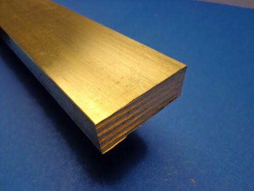"""1/2"""" x 1"""" x 12""""-Long 360 Brass Flat Bar -->.500"""" x 1.0"""" 360 Brass MILL STOCK"""
