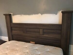 , frame, head and footboard for a queen mattress