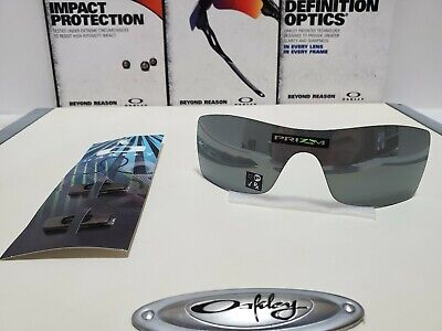Oakley Batwolf Prizm Black Replacement Lens Brand New w/ Gunmetal Icons! Awesome