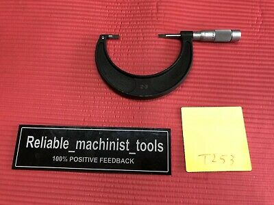American Made Brown Sharpe Blade Outside Micrometer 2 To 3 Inch .001 Grad T253