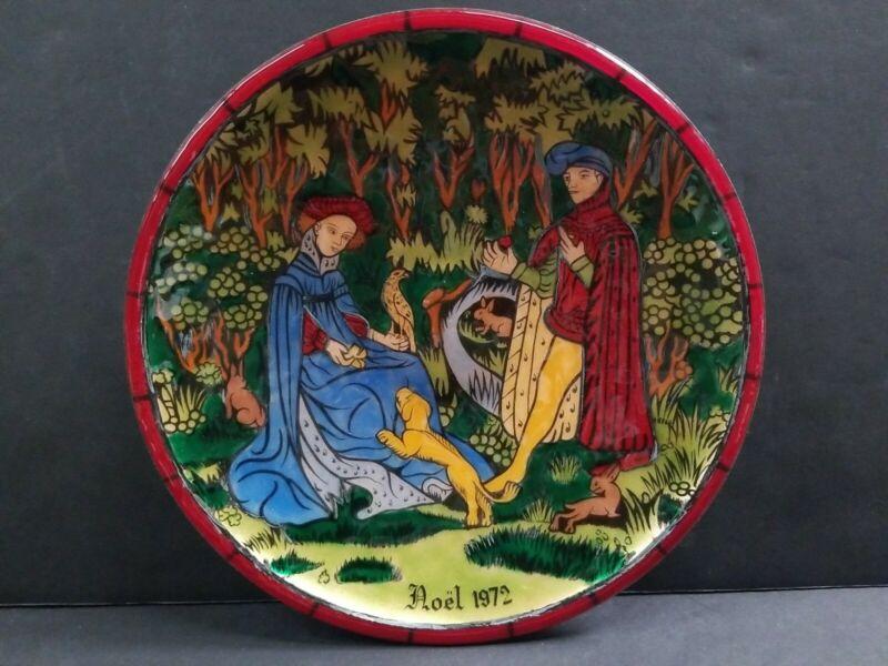 Jean-Paul Loup 1972 Christmas Enamel Collector Plate Limoges LE 129/500 Betourne