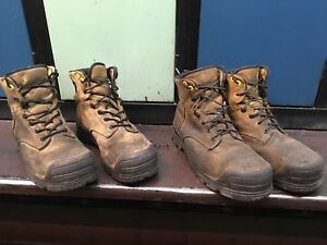 Steel toed boots - size 10 and 10.5